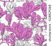 vector floral pattern with... | Shutterstock .eps vector #418829368