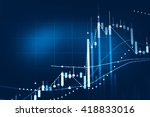 stock market chart. business... | Shutterstock . vector #418833016