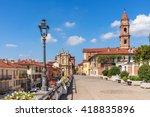 promenade along old colorful... | Shutterstock . vector #418835896