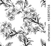 vector seamless floral pattern... | Shutterstock .eps vector #418839316