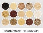 healthy grain food selection in ...   Shutterstock . vector #418839934