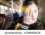 asian girl having travel... | Shutterstock . vector #418840624