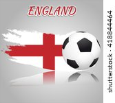 england symbol with the soccer... | Shutterstock .eps vector #418844464