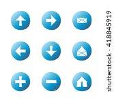 web blue gradient icons set....