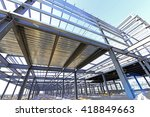steel structure workshop is... | Shutterstock . vector #418849663