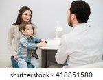 pediatrician doctor examining... | Shutterstock . vector #418851580