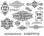 Stock vector vintage label collection of frames on different design and sizes 418859926