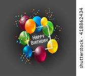 abstract celebration birthday... | Shutterstock .eps vector #418862434