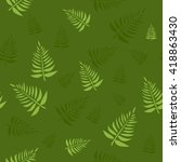 tropical leaves | Shutterstock .eps vector #418863430
