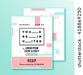 event  party invitation card or ... | Shutterstock .eps vector #418869250