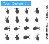 touch gesture icons flat set | Shutterstock .eps vector #418878403
