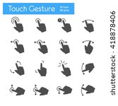 touch gesture icons flat | Shutterstock .eps vector #418878406