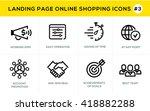 flat line design concept icons... | Shutterstock .eps vector #418882288