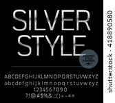 vector set of elegant silver... | Shutterstock .eps vector #418890580