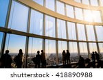 silhouette people with... | Shutterstock . vector #418890988