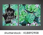 trendy tropical  jungle style... | Shutterstock .eps vector #418892908
