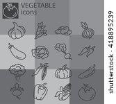 web icons set   vegetables | Shutterstock .eps vector #418895239