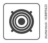 stereo speaker  icon   Shutterstock .eps vector #418895623