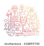 illustration of vector modern... | Shutterstock .eps vector #418895740