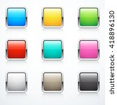 set of square buttons | Shutterstock .eps vector #418896130