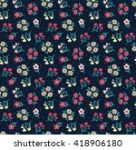 cute pattern in small flower.... | Shutterstock .eps vector #418906180