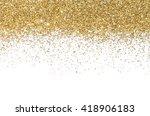 gold border. sequins. golden... | Shutterstock . vector #418906183