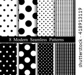 8 modern seamless patterns.... | Shutterstock .eps vector #418913119