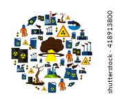environmental pollution icon... | Shutterstock .eps vector #418913800