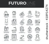 modern thin line icons set of... | Shutterstock .eps vector #418914274