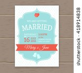 flat wedding invitation with... | Shutterstock .eps vector #418914838