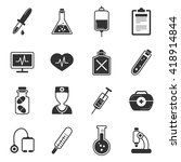 healthcare black white icons... | Shutterstock .eps vector #418914844