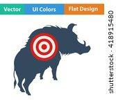 flat design icon of boar...