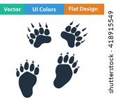 flat design icon of bear trails ...