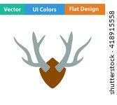flat design icon of deer's...