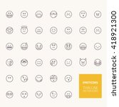 emoticons outline icons for web ... | Shutterstock .eps vector #418921300