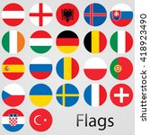europe countries vector flags... | Shutterstock .eps vector #418923490