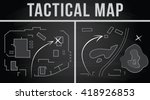 tactical map of the fighting ... | Shutterstock .eps vector #418926853
