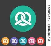 pretzel bakery  icon flat web... | Shutterstock .eps vector #418928098