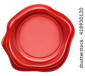 red wax stamp seal | Shutterstock .eps vector #418930120