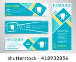 tooth icon on vertical and... | Shutterstock .eps vector #418932856