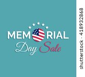 vector happy memorial day sale... | Shutterstock .eps vector #418932868
