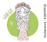 zodiac signs virgo. vector... | Shutterstock .eps vector #418939918