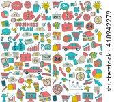 doodle vector seamless pattern...   Shutterstock .eps vector #418942279
