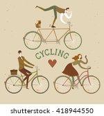 City Style Elegant Cyclists Se...