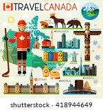 vector set of various canada... | Shutterstock .eps vector #418944649