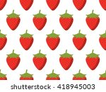 strawberries seamless pattern....   Shutterstock .eps vector #418945003