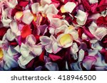 Stock photo colorful rose petals background 418946500