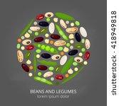 different cartoon legumes in... | Shutterstock .eps vector #418949818