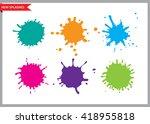 colorful paint splatters.paint... | Shutterstock .eps vector #418955818