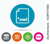 wifi  sms and calendar icons.... | Shutterstock .eps vector #418957480